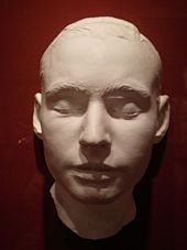 Leland Stanford Jr. - Leland Stanford's death mask on display at the Iris & B. Gerald Cantor Center for Visual Arts.