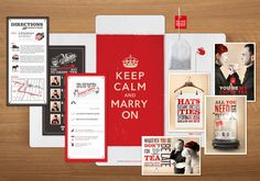 Keep Calm Marry On Wedding Invite Suite by the Tiny Red Factory ,Love this suite!  Check out the teabag they included!  So original!