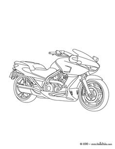 motorcycle coloring page 2
