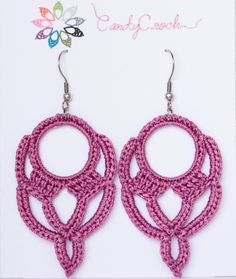 "Crochet earrings ""The Orientals"" by CandyCroch' – Long version"