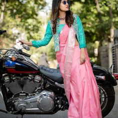 Creative Blouse Ideas For The Most Awesome Silk Saree Style! Creative Blouse Ideas For The Most Awesome Silk Saree Style! Blouse Back Neck Designs, Silk Saree Blouse Designs, Fancy Blouse Designs, Bridal Blouse Designs, Silk Sarees, Dress Designs, Blouse For Silk Saree, Latest Blouse Designs, Kurta Designs