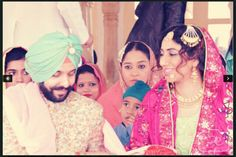 Sikh Wedding- English Mughal #Threadwork #Zardozi & #Gottapatti #Floral #Anarkali #Kundan #Indianjewellery beautiful hair & make up