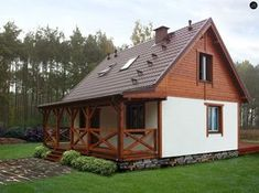 My House Plans, House Floor Plans, Style At Home, Tiny Mobile House, German Houses, Compact House, Rest House, Timber Frame Homes, Home Fashion