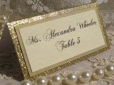 Gold Glitter Tented Place Cards Set of 50 Name Cards Escort Cards Wedding Anniversary Bridal Shower Party Customized Name Color 045 Wedding Name, Wedding Places, Wedding Place Cards, Diy Wedding, Card Wedding, Wedding Ideas, Wedding Tables, Wedding Colors, Dream Wedding