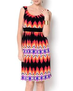 Glamour Multicolor Pleated Dress
