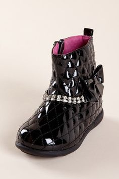 L'amour Quilted Patent Boot