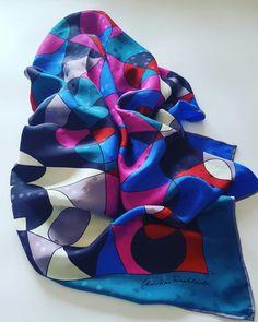 #vintage #scarf #cristianfischbacher #etsy #scarves #silk #vintage
