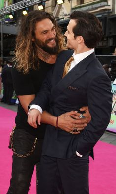 Pin for Later: Jason Momoa and Henry Cavill Basically Had Their Own Engagement Photo Session