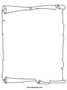 Carta Pergamena Da Colorare Bordi E Cornici