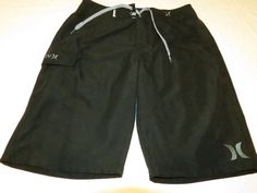 Boys Hurley youth 10 25 swim board shorts NWT surf skate brand black 981032 #Hurley #Everyday