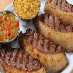 Picanha do Cowboy Dom Luis Good Fried Chicken, Beef Recipes, Cooking Recipes, Meat Steak, Good Food, Yummy Food, Tasty, Food Goals, Creative Food