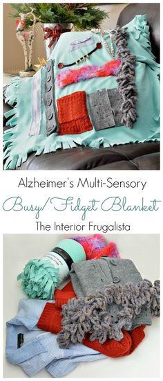 Alzheimer's Multi-Sensory Busy or Fidget Blanket | The Interior Frugalista
