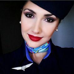 ☁✈☁ Linda Comissária  Andressa, sempre arrasando!  Bons voos Linda