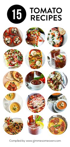 A delicious collection of 15 tomato recipes from food bloggers | gimmesomeoven.com