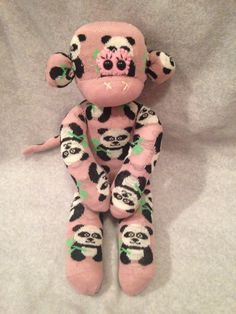 Panda Monkey! How cute is she!!??  Available now on our website www.eborallshandicrafts.com