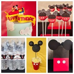 mickey and minnie mouse birthday party - Yahoo! Mickey Mouse Bday, Mickey Mouse Clubhouse Birthday, Mickey Mouse Parties, Mickey Party, Mickey Mouse Birthday, 3rd Birthday Parties, 2nd Birthday, Themed Parties, Birthday Ideas