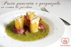 Il Bel Mangiare: Pasta con pancetta e gorgonzola su crema di zucchine