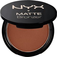 Nyx Cosmetics Matte body bronzer ($8.84) ❤ liked on Polyvore featuring beauty products, makeup, cheek makeup, cheek bronzer and nyx