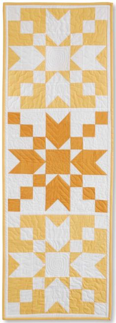 We have 2 amazing projects featured in the Jan/Feb 2016 issue of McCall's Quilting. The colorful Sherbet Stars by Wendy Sheppard features fabrics from Katherine Ann http://bit.ly/1IlHzPi by Patrick Lose and the quick and easy star table runner, Sunday Sunrise, by Anne Marie Chany features are Cotton Supreme Solids. Learn More at http://bit.ly/1kTdADW