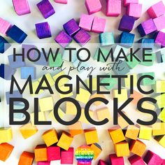 How to make your own mini magnetic blocks. A simple DIY guide along with plenty of ideas for play Stem Activities, Activities For Kids, Preschool Ideas, Preschool Projects, Indoor Activities, Craft Ideas, Diy For Kids, Crafts For Kids, Teen Crafts