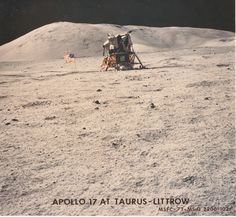 Apollo 17 Lunar Module Challenger at Taurus-Littrow Apollo Space Program, Nasa Space Program, Apollo Missions, Nasa Missions, Moon Missions, Space Race, Constellations, Man On The Moon, Moon Landing
