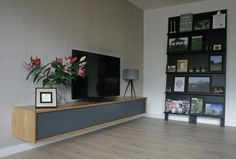 Bedroom Tv Unit Design, Tv In Bedroom, Modern Bedroom, Living Room Tv Unit, Living Room Interior, Living Spaces, Tv Wall Cabinets, Tv Unit Decor, Tv Furniture