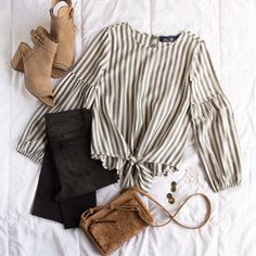 Keep those classic vibes for fall with a statement stripe top