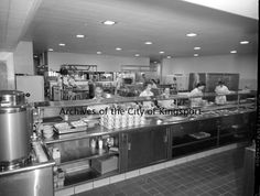 HVCH cafeteria, 1960