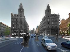 Then and Now - Budapest - Ferenciek tere, and Erzsebet hid (Elizabeth bridge) in the background 1914 - 2016 Hungary Travel, Budapest Hungary, Travel Tips, Cities, Bridge, Street View, Building, Travel Advice, Bridge Pattern
