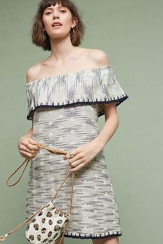 Slide View: 1: Ademia Off-The-Shoulder Dress, Ivory
