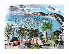 Art print of Mediterranean Scene by Raoul Dufy Raoul Dufy, Framed Art Prints, Fine Art Prints, Poster Prints, Art Posters, Seascape Paintings, Landscape Paintings, Landscapes, Monet