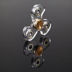 Tri Transparent Gyro Spinner