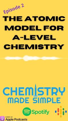 Why does the model of atomic structure change at A-Level? What was left out of the more basic model? The episode compares the GCSE and A-Level models and describes the limitations of the GCSE model. As always, we aim to make chemistry simple and help you to get chemistry confident. A Level Chemistry Revision, Ap Chemistry, Study Board, Quantum Mechanics, Teacher Resources, Confident, Make It Simple, Periodic Table, High School
