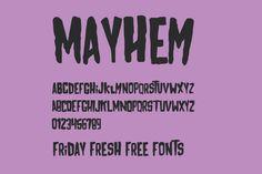 Friday Fresh Free Fonts - Bukhari Script, Leto Sans Defect, Mayhem