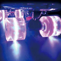 1 Set(2pcs) Pro 60X45mm Pu Rubber Material Led Light Up Wheels for 22 inch Skateboard Longboard Cruiser Skating Board #Affiliate