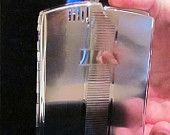 Cigarette Case, Vintage Cigarette Case, Case Lighter, Evans, 1940's, Art Deco, WORKING LIGHTER. $99.99, via Etsy.