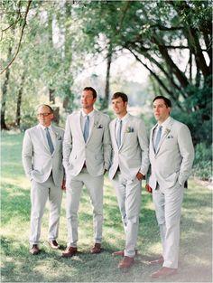 - groom and groomsmen shots - Wedding Gray Groomsmen Suits, Groomsmen Outfits, Groom And Groomsmen Attire, Bridesmaids And Groomsmen, Bridesmaid Dresses, Wedding Dresses, Wedding Groom, Wedding Suits, Wedding Attire
