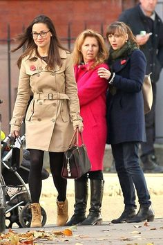 November 9, 2013 - Pippa taking a walk in London - I love the look on these ladies' faces!