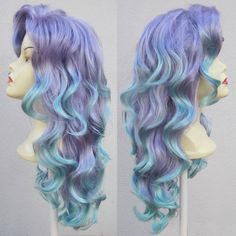 Mermaid Lagoon Purple and Aqua Adult Costume Wig From Under The Sea a True Enchantment Original. $300.00, via Etsy.