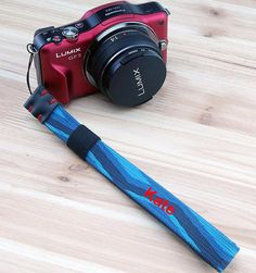 Custom name leather DSLR camera Wrist Strap Leather by Giftuponday
