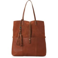 Moda Luxe Tan Marseille Tote (59 CAD) ❤ liked on Polyvore featuring bags, handbags, tote bags, beige, leather totes, leather handbags, brown tote, brown leather tote and leather tote bags