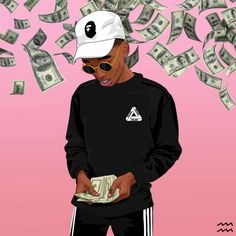 money, adidas, and art image