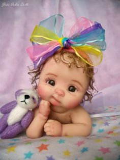 """Details about Ooak Polymer Clay Baby Doll ❤ooak ballerina baby girl """"whoopsie daisy"""" by: joni inlow* dolly-street❤ Cute Baby Dolls, Reborn Baby Dolls, Cute Babies, Tiny Dolls, Ooak Dolls, Cool Baby, Baby Fairy, Polymer Clay Dolls, Little Doll"""