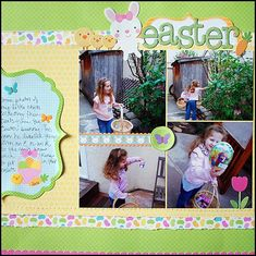 adorable Easter scrapbook layout from May Flaum