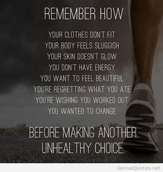 before making another unhealthy choice...