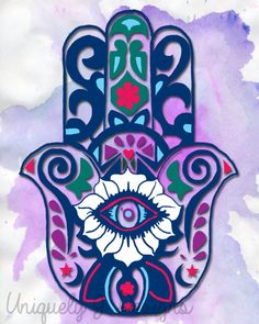 Instant Downloadable Print  Hamsa 8x10 by UniquelyJDesigns on Etsy, $10.00