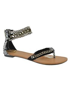 Look at this Black Wiki Ankle-Strap Sandal on #zulily today!