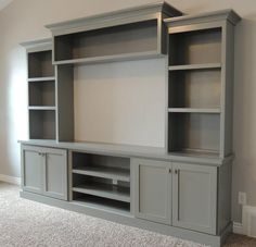 Built-in Entertainment Center Ideas. Find ideas and inspiration for Built-in Entertainment Center Ideas to add to your own home. built in 7 DIY Entertainment Center Ideas to Design at Home Living Room Tv, Home And Living, Tv Wall Ideas Living Room, Wall Cabinets Living Room, Living Walls, Kitchen Living, Small Living, Dining Room, Built In Entertainment Center