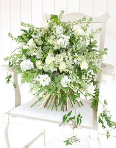 Classic - Ethereal Bouquet. Lovely green and white by Phillipa Craddock