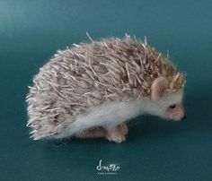Needle Felted Hedgehog | Needle Felted Hedgehog 10 cm long size by dollmofee by dollmofee